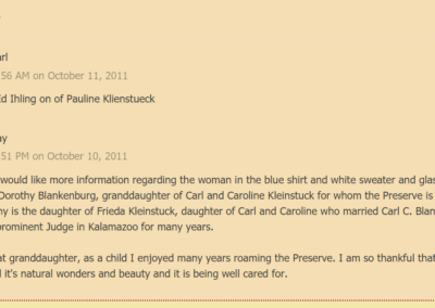 Comments on KleinstuckGrand